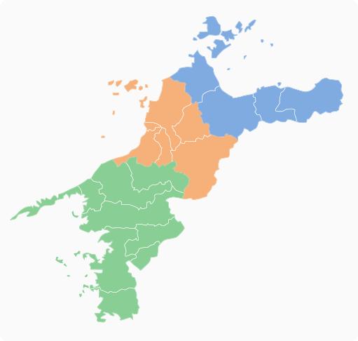 愛媛県エリアマップ